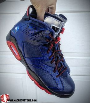 "Air Jordan VI ""Cobra Commander"" Custom by Mache Customs"