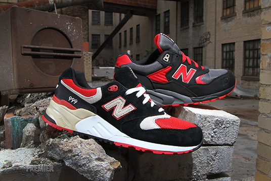 new balance 999 red black