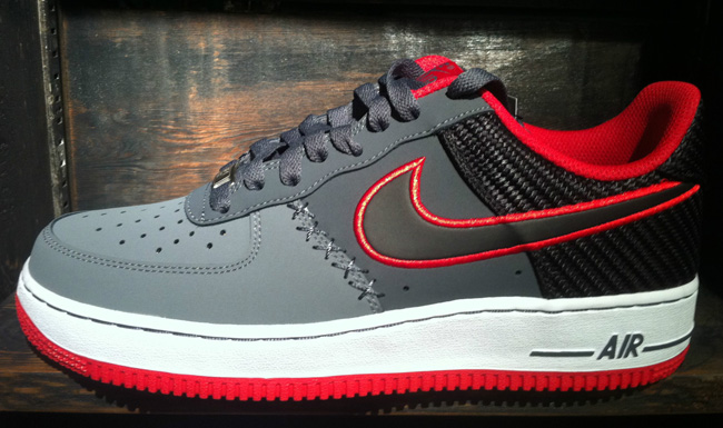 nike air force one red and black
