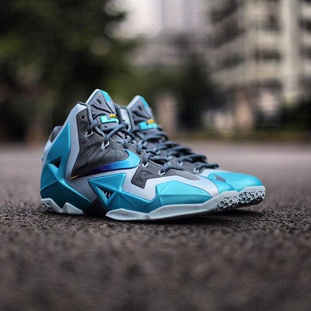 newest 8e8db 25acb Nike Lebron XI – Armory Slate   Gamma Blue Release Date